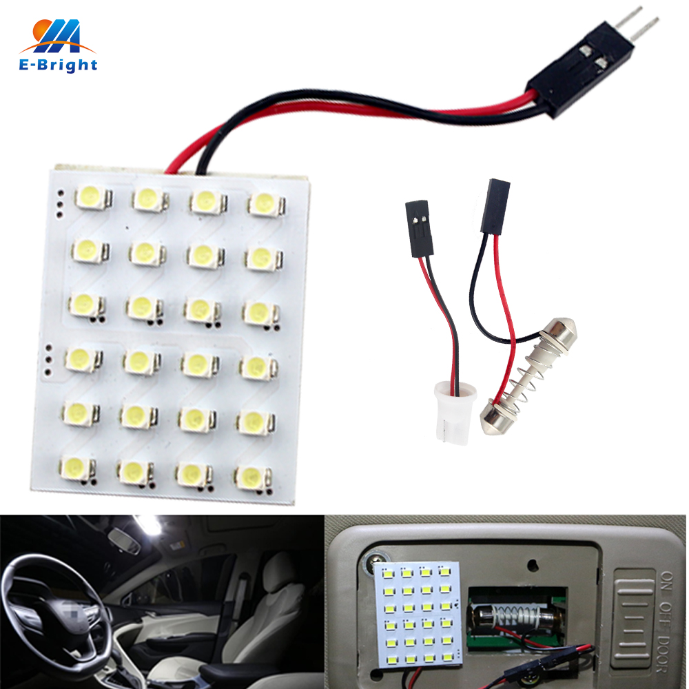 YM E Bright 100PCS Panel Lights 3528 SMD 1210 24 SMD 24LED Reading LED Light Festoon