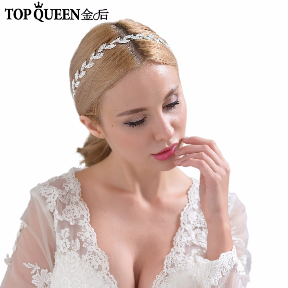 TOPQUEEN H198-S Wedding Bridal Hair Accessory Diamond Headpiece Bride Headwear Hairband Headdress Women Fashion Hair for Party headpiece