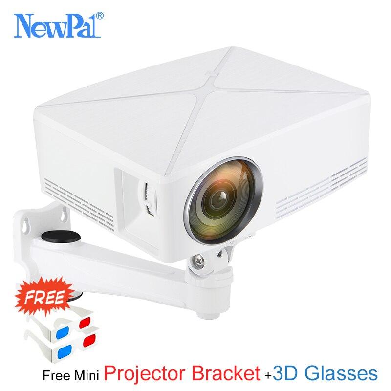 Newpal C80 UP Mini proyector 2200 lúmenes proyector 1280x720 P cine en casa (Android WIFI opción) 720 P HD Proyector de LED c80