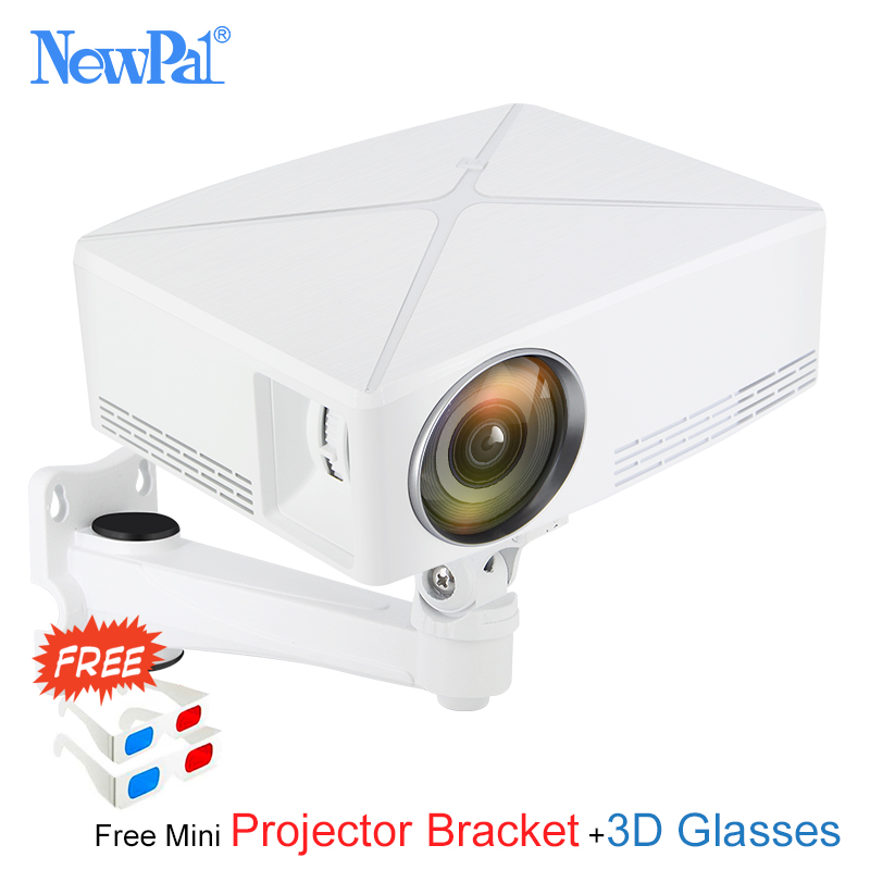 Newpal C80 UP Mini proyector 2200 lúmenes proyector 1280x720 p cine en casa (Android WIFI opción) 720 p Beamer HD Proyector de LED c80