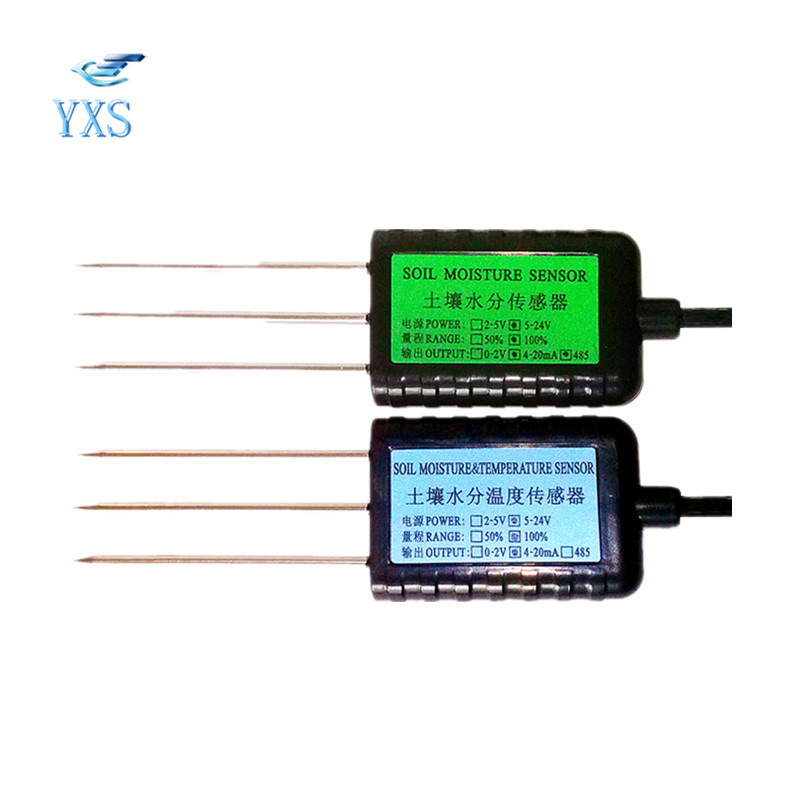 Factory RS485 100% Moisture 0-2V 4-20mA Soil Sensor Soil Moisture Sensor Soil Humidity Sensor with Long Lifespan RS485 Output digital temperature and humidity sensor modbus 4 20ma wifi rs485 development board graduation design