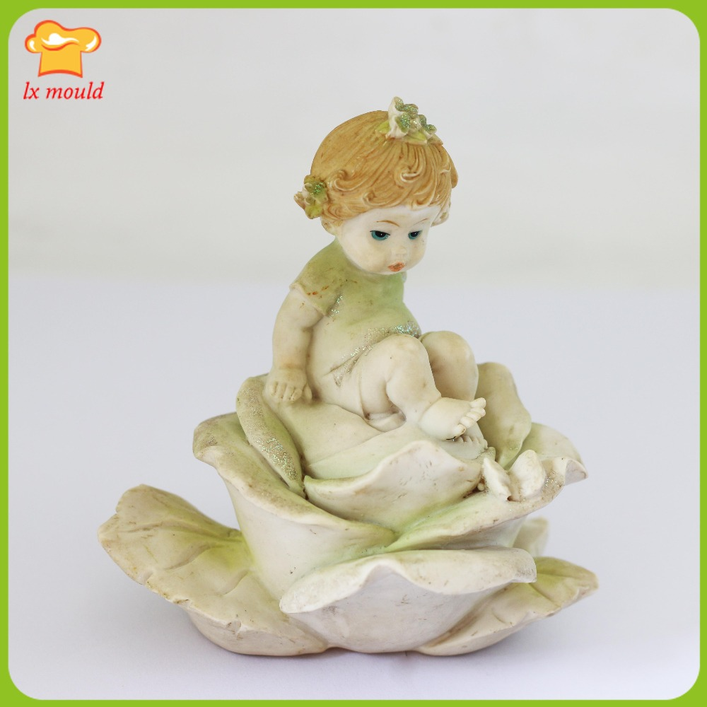 LXYY 3D Rose Girl Silicone Mould Girl Statue Sugar Art Mould Manual DIY Candle Mould