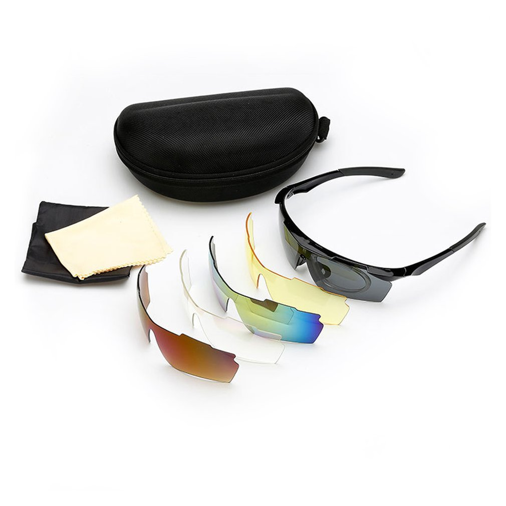 PC Cycling Sunglasses Cycling Eyewear Men Women Sport Protection Goggles With Myopia Frame for Riding Fishing