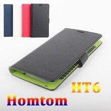 Дважды цветов case для homtom ht6 case оригинальный роскошный кожа поперечная флип чехлы для homtom6 случаи телефона в наличии