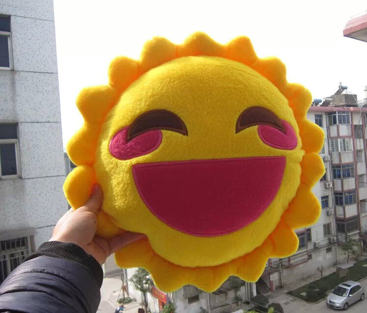 Super Funny Laughing Cartoon Sun Game Plush Doll Hold