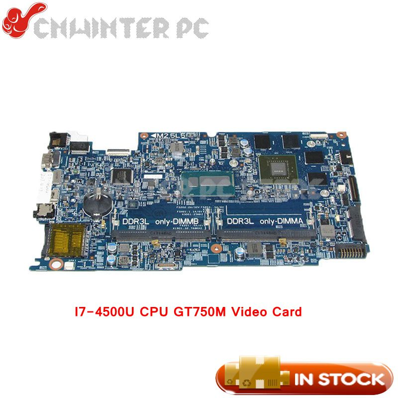NOKOTION CN-02KN1H 02KN1H Laptop Motherboard For Dell Inspiron 15 7537 MAIN BOARD I7-4500U CPU GT750M Video Card