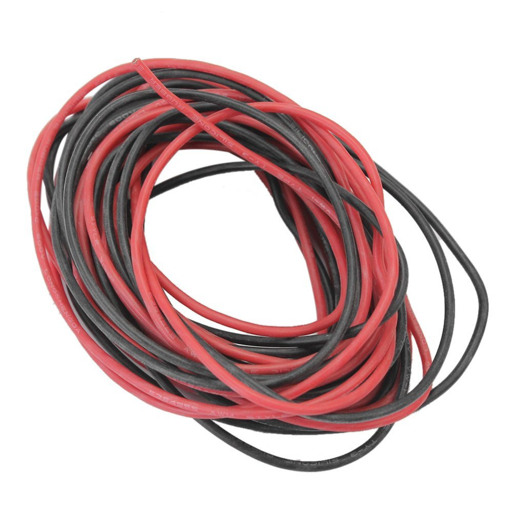 ALLiSHOP 12# AWG 12AWG Flexible Silicone Wire Cable Soft High Temperature Tinned Copper Electrical Wires