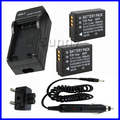 Battery (2 Pack) + Charger for Panasonic CGAS007,CGA S007,CGA-S007,CGA-S007A,CGA-S007A/1B,CGA-S007E Lithium Ion Rechargeable