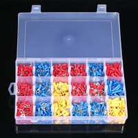 1200PCS Assorted Insulated Terminals 10 Kinds Copper Crimp Electrical Wire Cable Connector Kit Cord Ring End Set