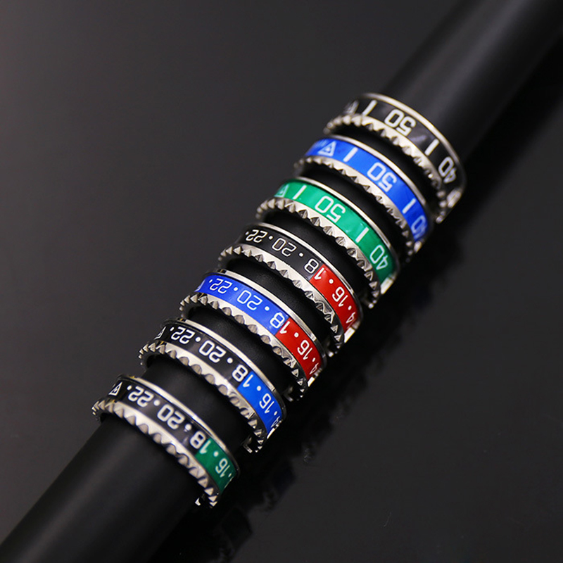 Official-Ring Cuff-Speedometer 316l-Stainless-Steel Jewelry New 36-Color Ltalian-Style