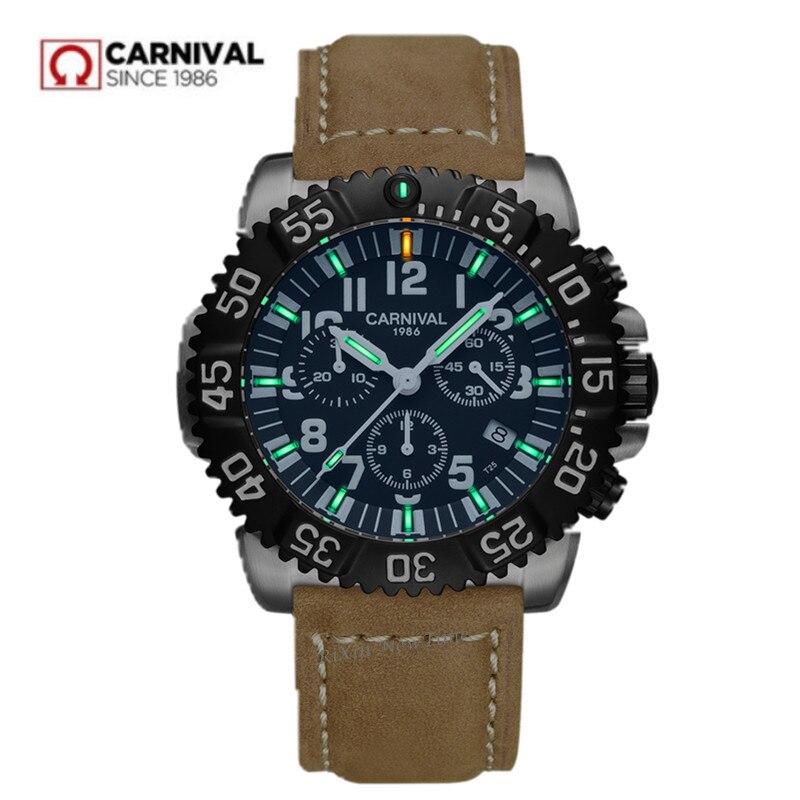 Top marque de luxe suisse chronographe chronomètre montre hommes T25 tritium lumineux quartz hommes montres horloge entièrement en acier étanche