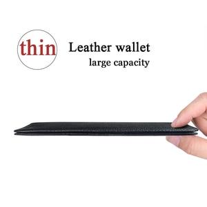 Image 2 - Miękkie Slam portfel męskie długie portfele bardzo cienkie portfele prawdziwej skóry posiadacz karty wielofunkcyjny torebka wysokiej jakości moda