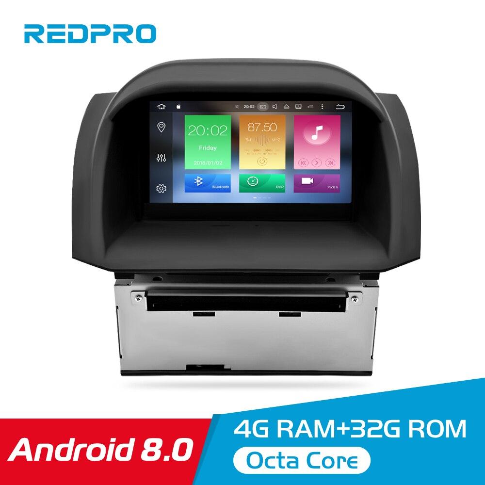 Lecteur stéréo de voiture IPS octa-core Android 8.0 pour Ford Fiesta 2013-2017 DVD GPS Navigation Auto Radio Bluetooth 4G RAM multimédia