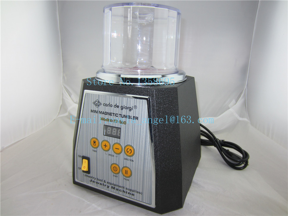kt130 jewelry gold magnetic tumbler, 2 kw jewelry rotary tumber, jewelry polishing machine,diamond tumbling machine