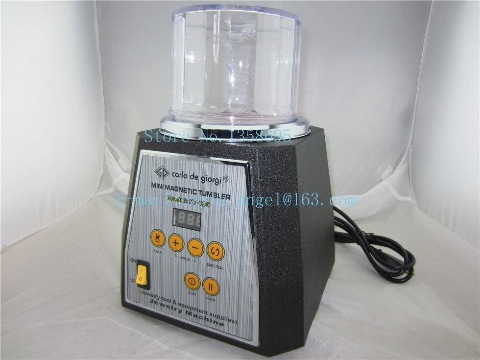 kt130 jewelry gold magnetic tumbler, 2 kw jewelry rotary tumber, jewelry polishing machine,diamond tumbling machine
