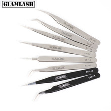 Glamlash ESD ST SA Series Anti-static Tweezer Curved Straight Tip Makeup Tool