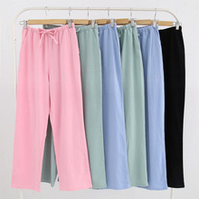 New Spring Women's Sleep Bottoms Pajamas Pants Ladies Underwear Trousers Plaid W