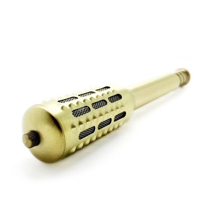 Big Moxa Roller Pure Copper Moxa Stick Moxibustion Massage Moxa Roll Burner Stick Tiger Warmer for Allergies Ear Pain Sinusi