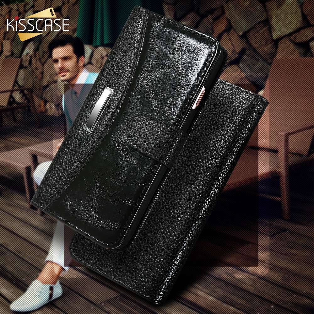 KISSCASE Business Fashion Flip Leather Case For iPhone 7 6 5 5S SE Case Card Slot Wallet Phone Cover For iPhone 7 5 5S 6 6S Plus