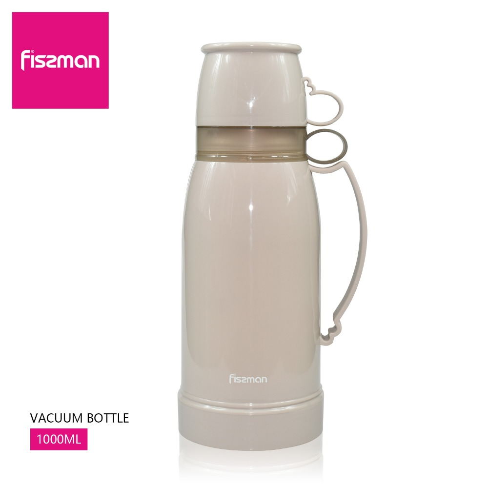 Fissman Vacuum Bottle 1000ml(35oz) double wall glass liner thermal bottle,Large Capacity Vacuum Flask,thermal 8hours Термос