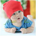 Розничная Сплошной цвет Хлопка Милый Ребенок Шапочки Шляпа для Мальчик и Девочка Новорожденного Шапки Шапка Малышей Шапочки 1 шт. BH-1082