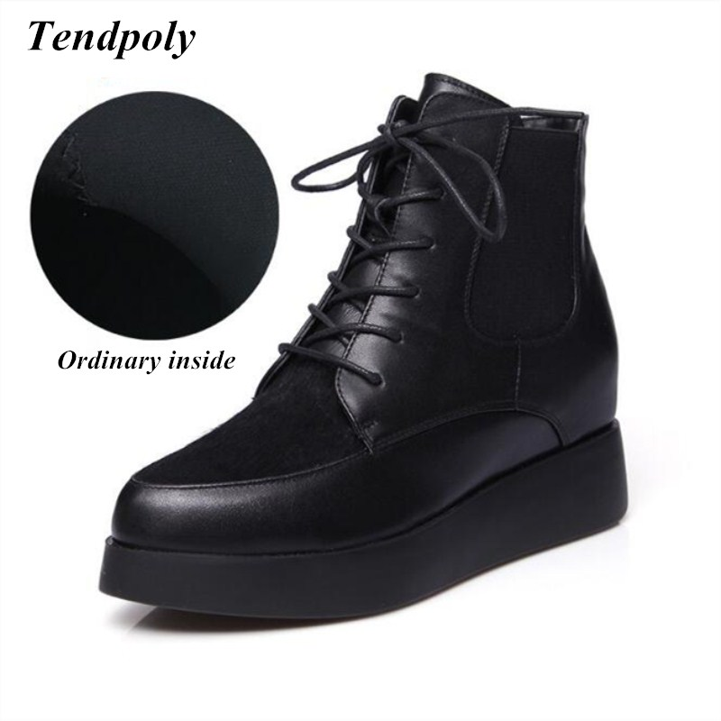 2018 New style leather cowhide fashion boots autumn and winter pointed tip warm boots hot section lace wild casual women's boots autumn and winter new leather shoes with leather boots and boots with flat boots british classic classic hot wild casual shoes
