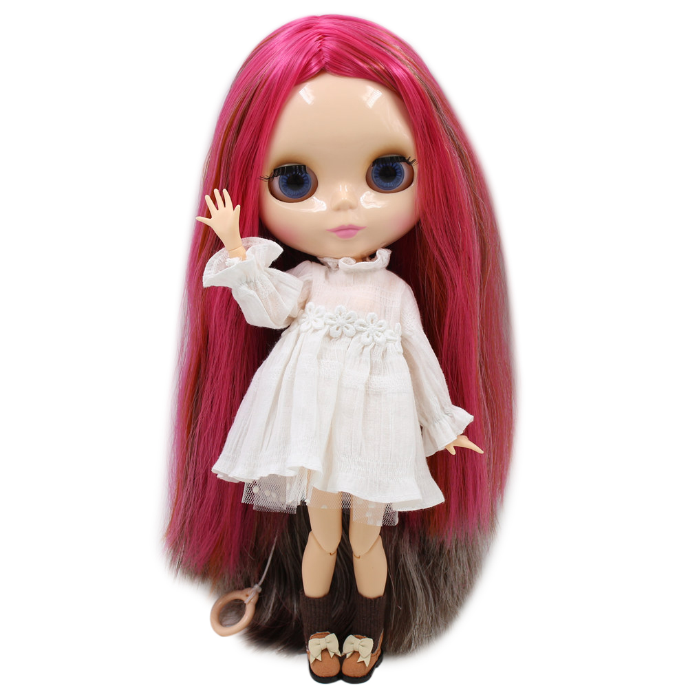 joint body Nude blyth Doll red hair Factory doll DIY toy