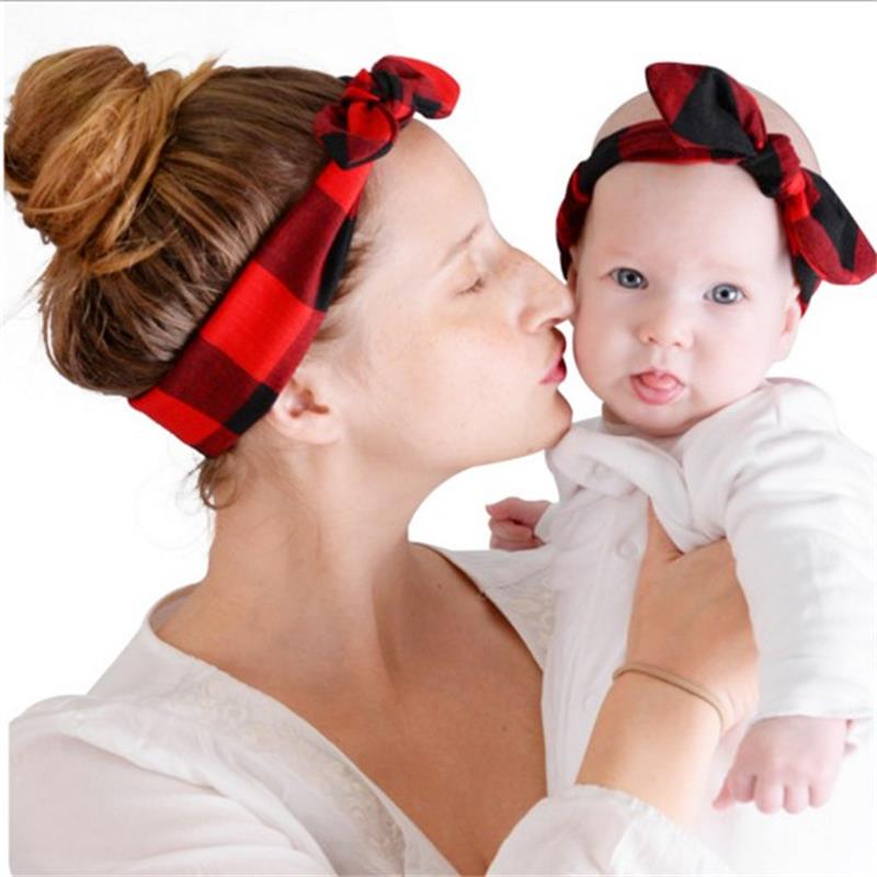 2pcs Set Mommy And Me Matching Headbands Photo Prop Gift
