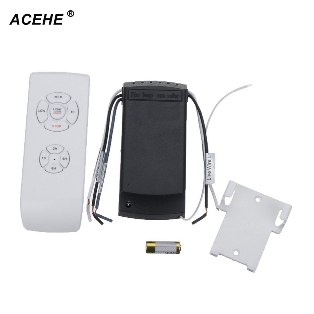 ACEHE 1pc Universal Ceiling Fan Lamp Remote Controller Kit+Timing Wireless Remote Control high quality dropshipping