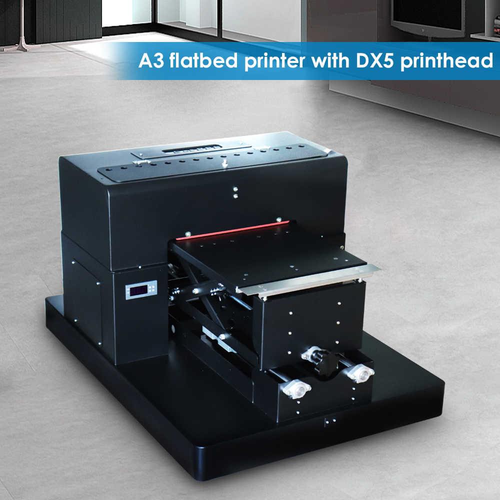 6 Warna Manual T Shirt Printer A3 Ukuran Flatbed Printer untuk Digital Kustom DIY Garmen Printing Direct To Garment Printer