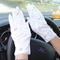 Womens Gloves For Women Off white Car Moto Sunscreen Gloves Female Non-slip Print Lace Leather Gloves Sunscreen Guantes