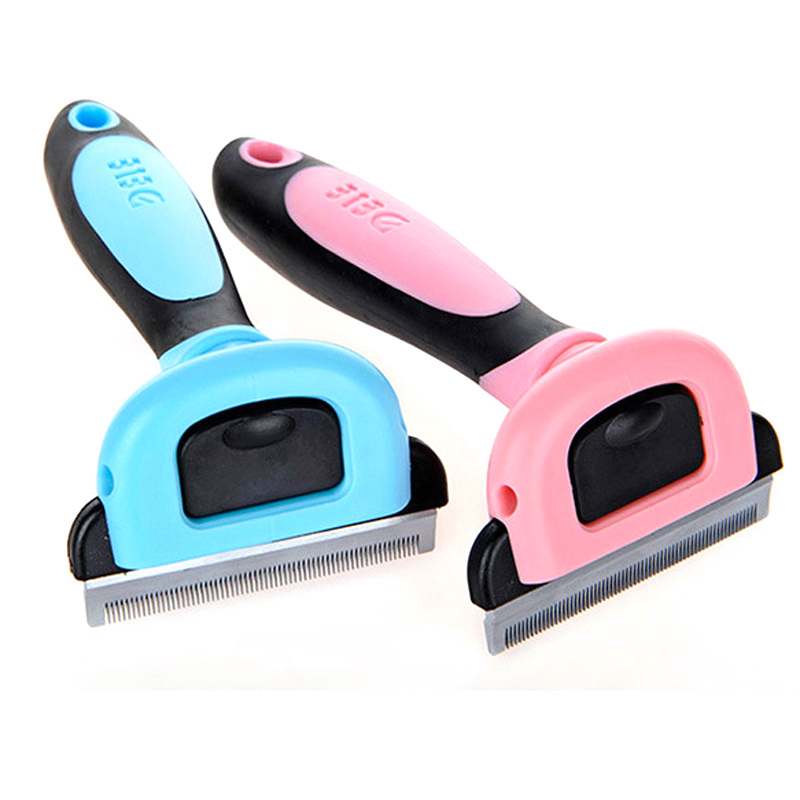 Pet Supply Hair Remover PP TPR Handle Beauty Brush Grooming Tools Furmins Detachable Attachment Pet Trimmer Combs for Cat Dog