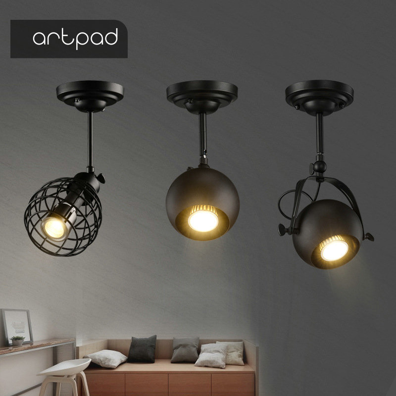 Artpad Retro Creative Ceiling Spot Light for Coffee Restaurant Background Wall Store Spotlights Up ClothingArtpad Retro Creative Ceiling Spot Light for Coffee Restaurant Background Wall Store Spotlights Up Clothing