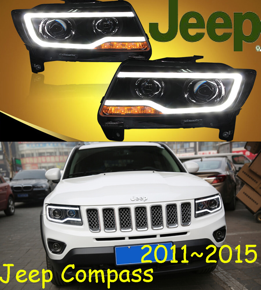 2011~2014,Car Styling for Compass Headlights,HID,canbus,cherokee,comanche,commander,Liberty,tj,Compass head lamp цена