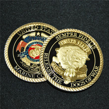 United States Marine Corp Challenge coin Collectible Release the Dogs of War Semper Fidelis, USMC coins souvenir, 10pcs/lot