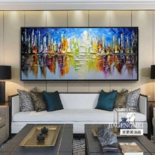 Hand Painted Modern Abstract Landscape Canvas Wall Art Painting