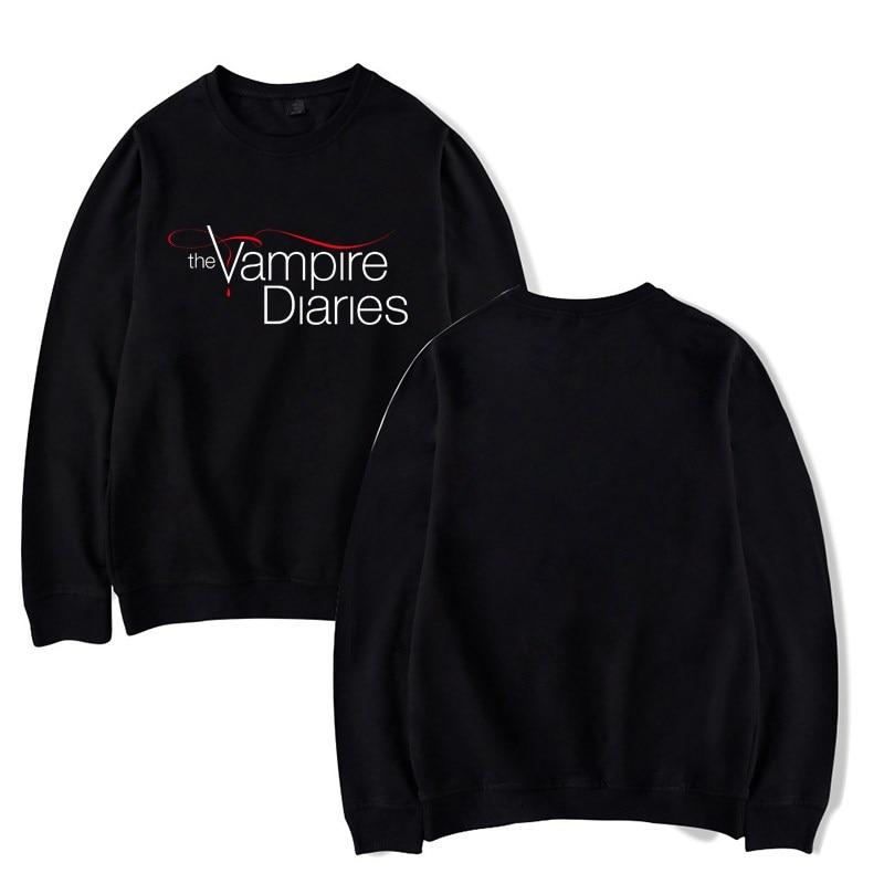 The Vampire Diaries Print Hooded Hoodie For Men Women Tops Fashion Sportswear Sweatshirt Streetwear Pullover Gifts