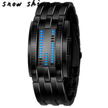 snowshine 10xin font b Luxury b font Women Stainless Steel Date Digital LED Bracelet Sport Watches