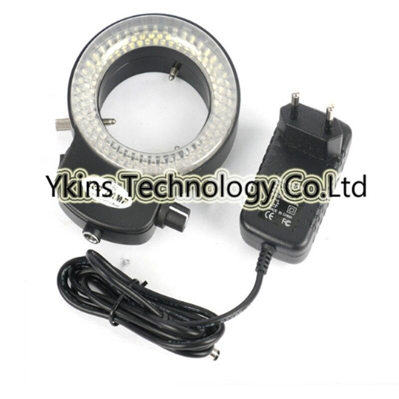 Ajustar manualmente a 6500 K 144 anel de luz LEVOU para estéreo microscópio digital camera lupa industrial 110 V-240 V adaptador