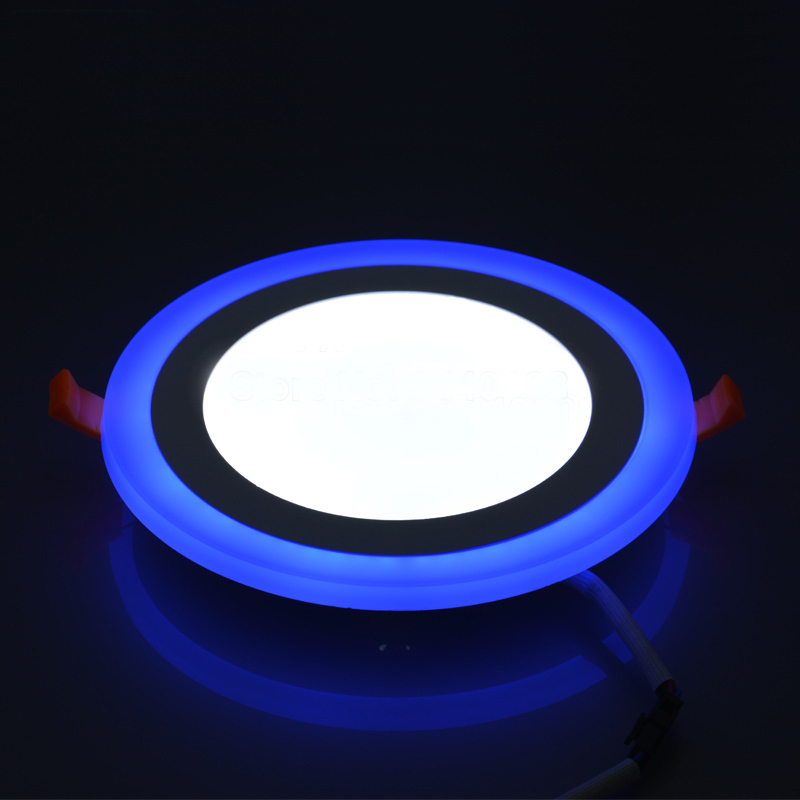 Downlights branco duplo cor conduziu a Light Color : Blue+white/warm White
