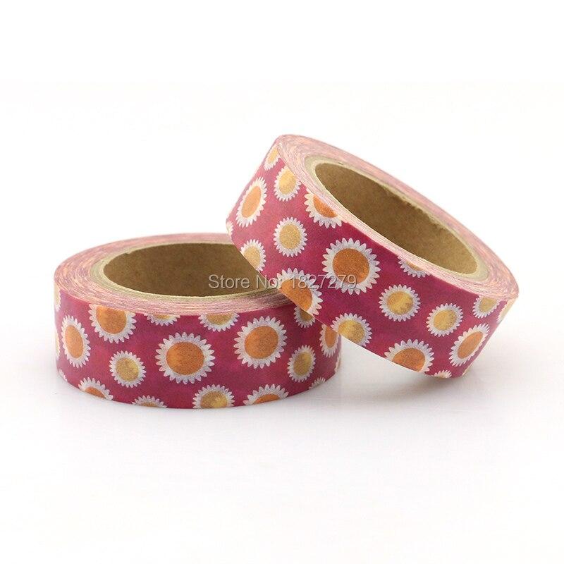 1 Roll Flower Sakura Rose Sunflower Masking Tape Washi Tape Adhesive Tape