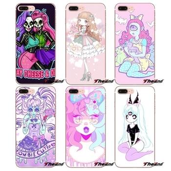 Girly Pastel Witch Goth Soft Transparent Covers For Sony Xperia Z Z1 Z2 Z3 Z5 compact M2 M4 M5 E3 T3 XA Aqua LG G4 G5 G3 G2 Mini