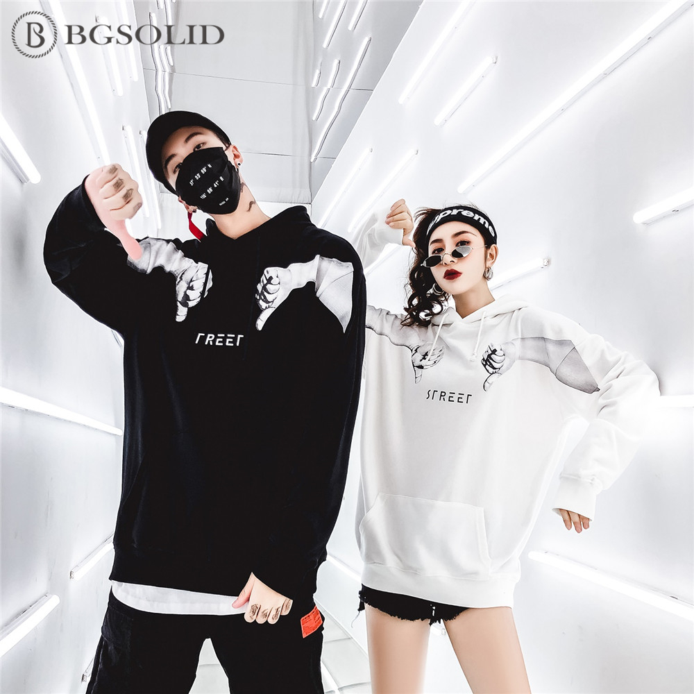In Black red Printed 2019 white blue New Couple's Hoodie TOP7tx