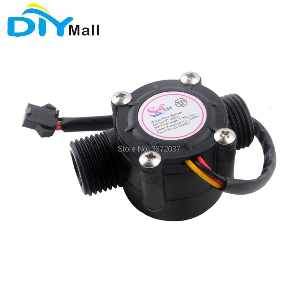 "1//2/"" Water Flow Sensor Switch Hall Flow Meter Counter 1-30L//min For Arduino"