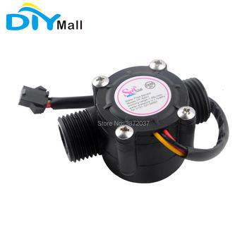 цена на S201 G1/2 Counter 1-30L/min Meter Water Flow Hall Sensor Fluid Flowmeter Switch Module Control for Arduino