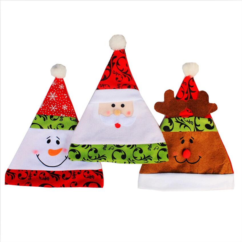 b2762f529bdfd High Quality Gorro Soft Plush Adult Children Snowman Santa Claus Deer Cap  Christmas Gif Hats