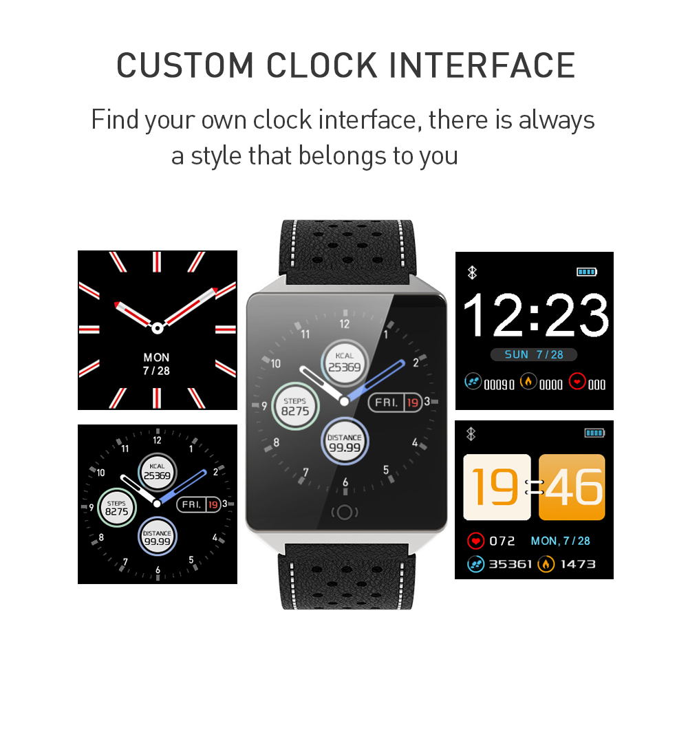 CK19 Smartwatch IP67 Waterproof Wearable Device Bluetooth Pedometer Heart Rate Monitor Color Display Smart Watch For AndroidIOS (10)