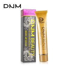 DNM Small Gold Tube Concealer Cream Face Cover Acne Marks Scar Tattoo Dark Circles Freckles Liquid Foundation 14 Color Optional dermacol brand high quality concealer liquid foundation cover freckles acne marks waterproof professional primer cosmetic makeup
