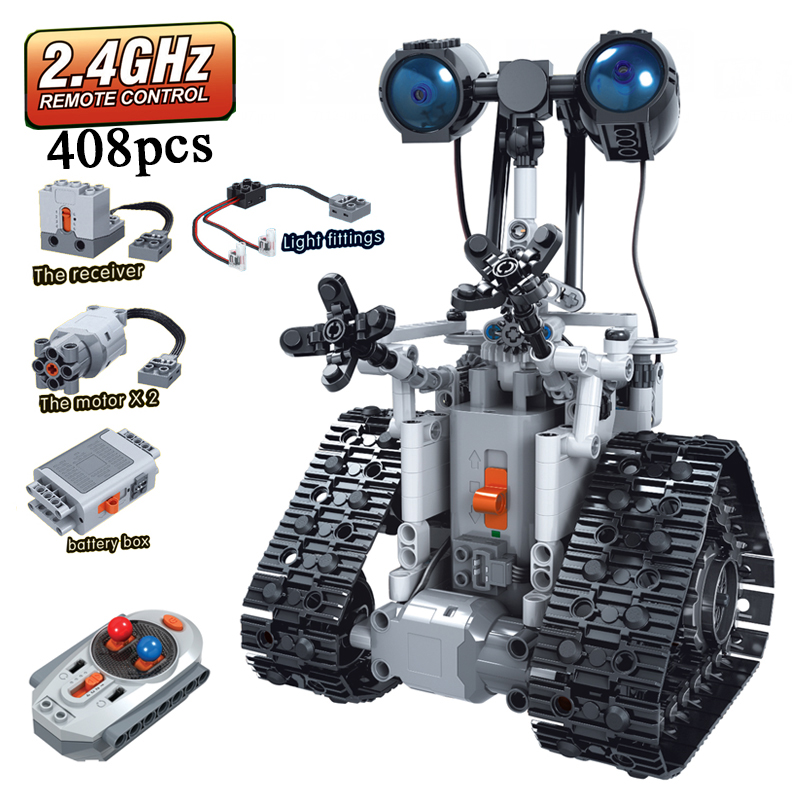 MOC Classic Robot Remote Control 2 4GHz Technic with Motor Box 408pcs Building Blocks Bricks Creator