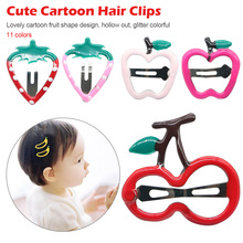 2 pcs/lot Cute kids Barrettes hairpin headband Hair Accessories  fruit hair clips toddlers